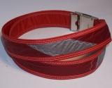 Unikat Gürtel red/grey1